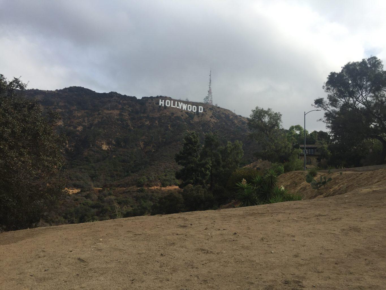 Explanada desde donde hemos hecho las fotos Cartel de Hollywood