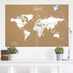 mapa corcho miss wood. regalar a viajeros