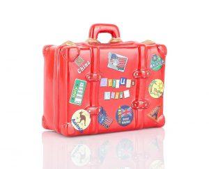 hucha maleta. regalar a viajeros