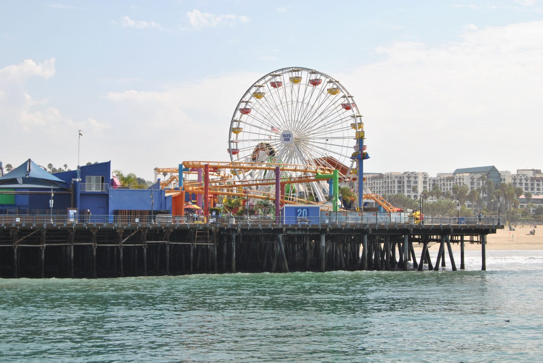 Pacific Park desde el Muelle de Santa Monica