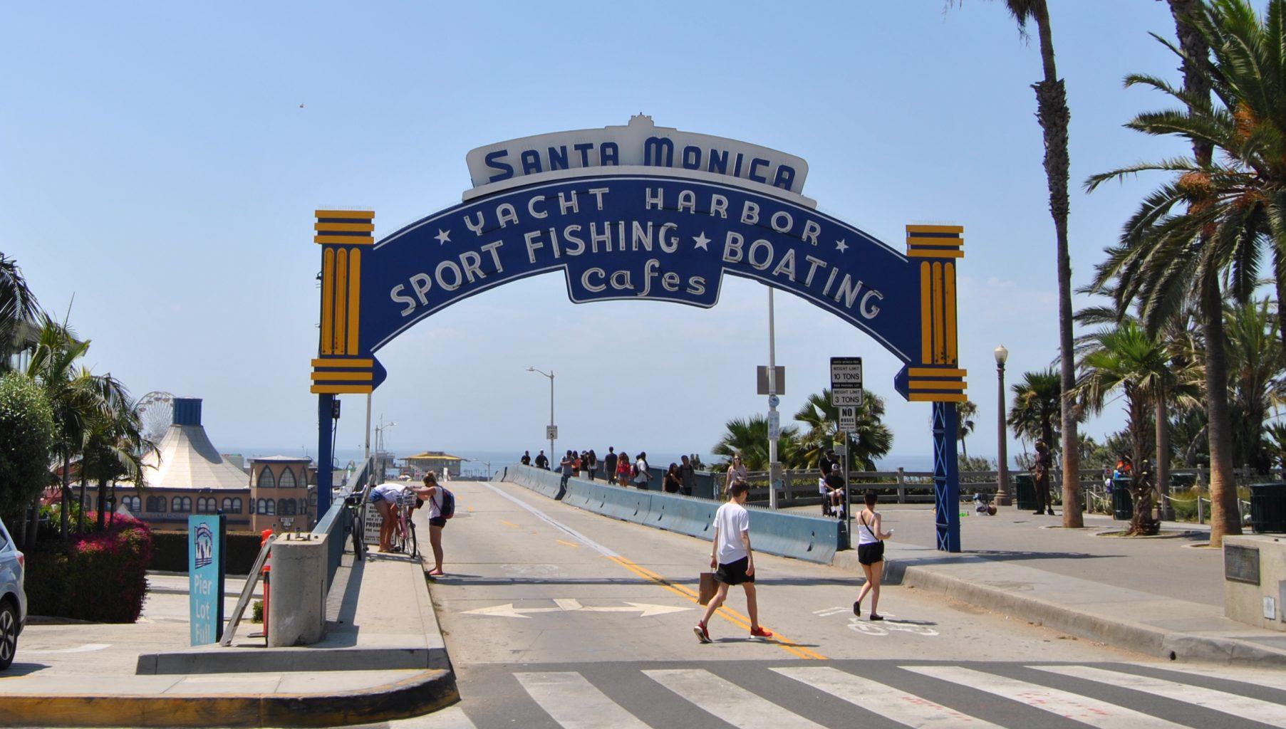Entrada al muelle de Santa Monica