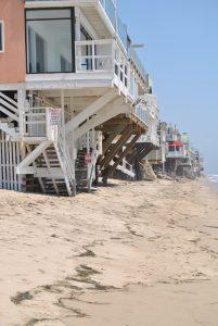 Casas de Malibú con su parte de playa privada. Excursion desde Santa Monica