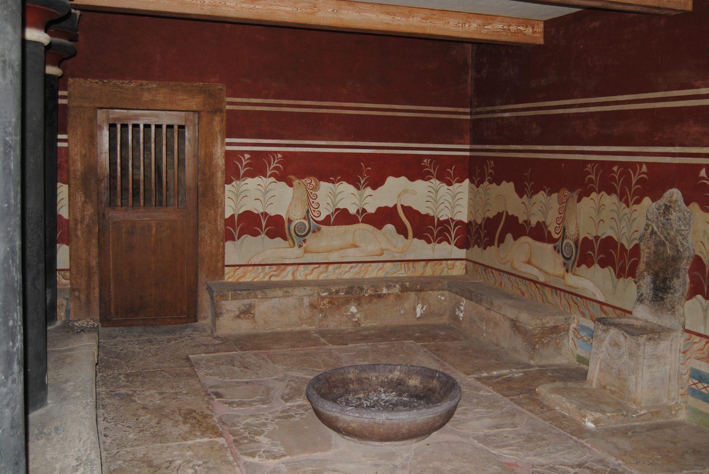 Sala del Trono Real. El palacio de Knossos