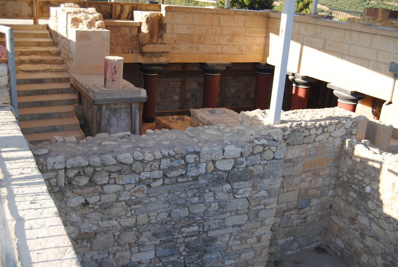 Escalera principal. El palacio de Knossos