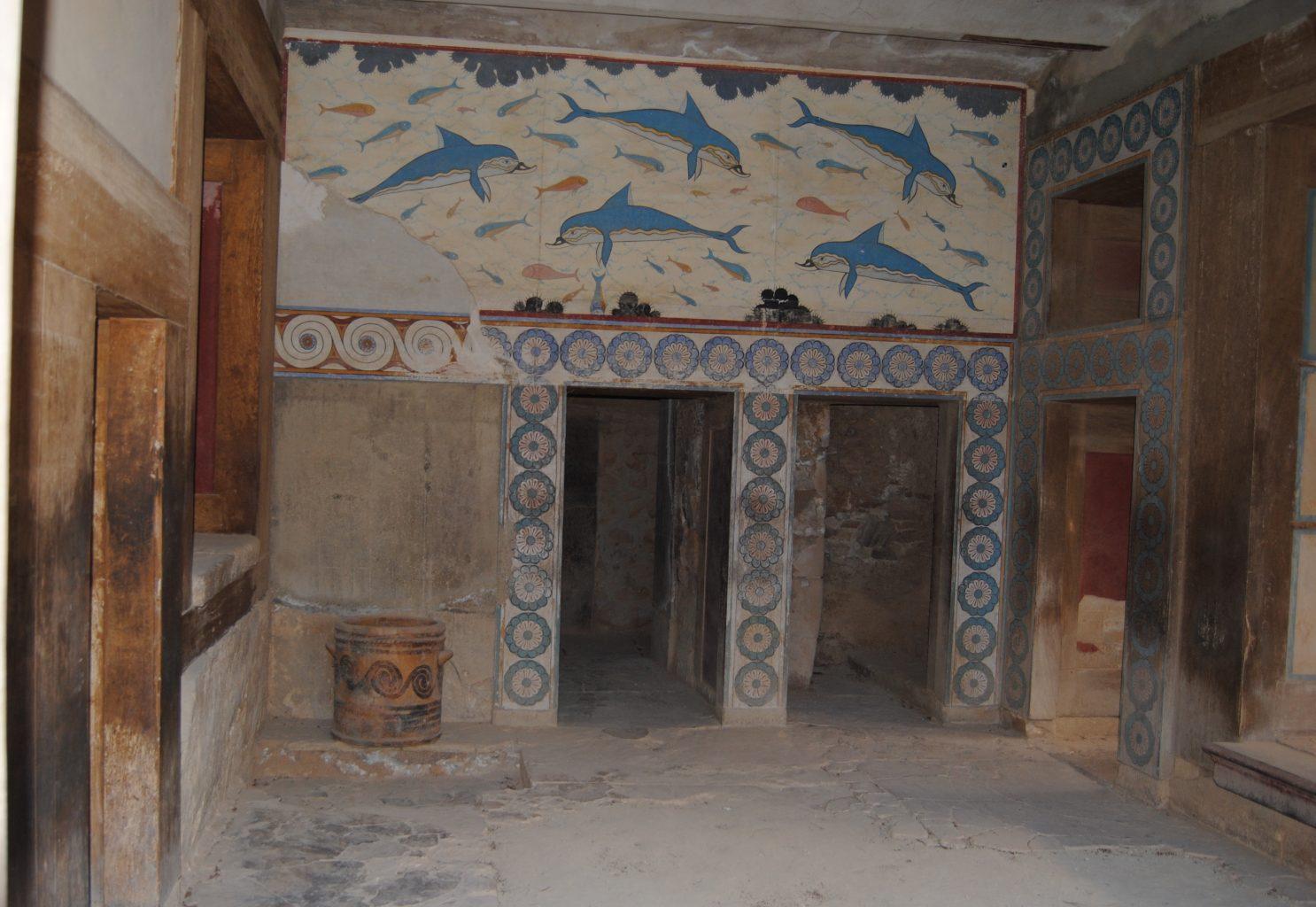 Sala de los Delfines. El palacio de Knossos