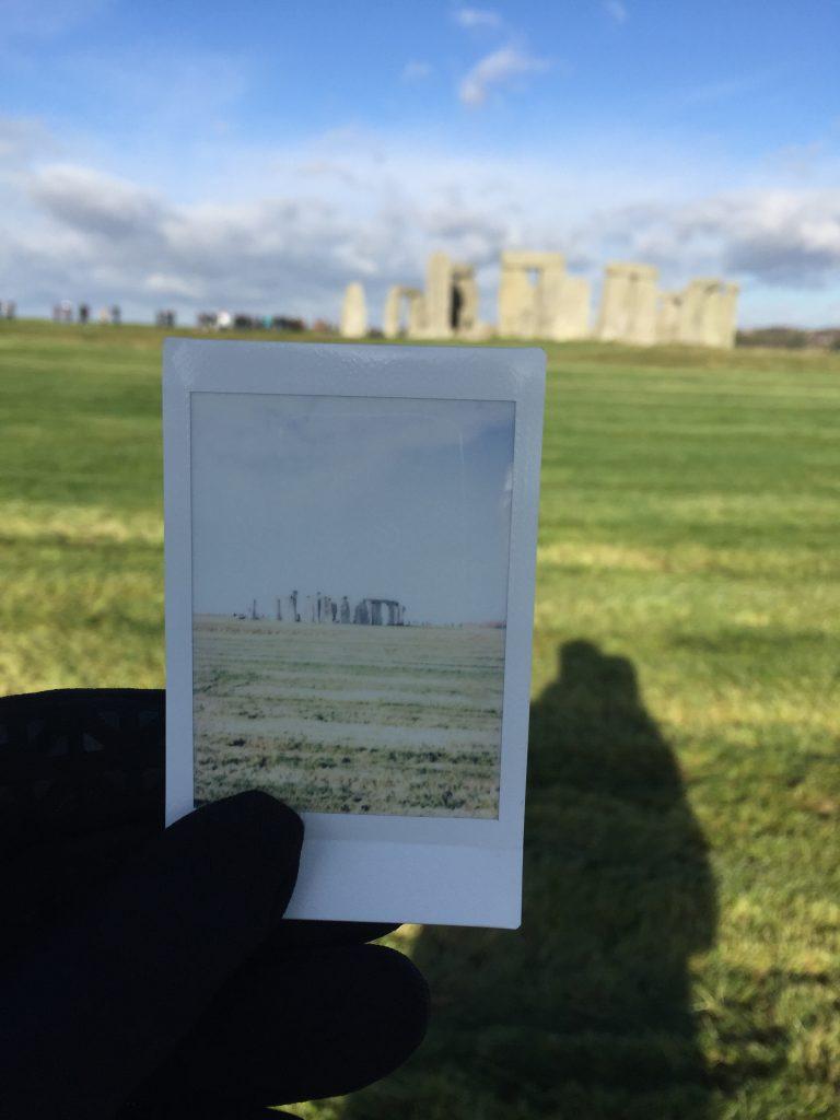 Polaroid en Stonehenge