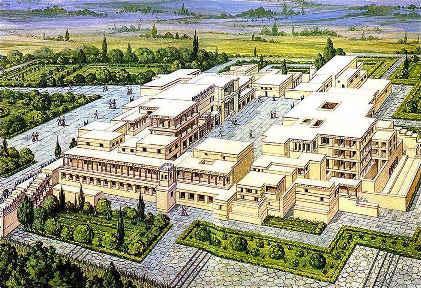 Reconstrucción Palacio de Knossos/Pinterest. Knosos
