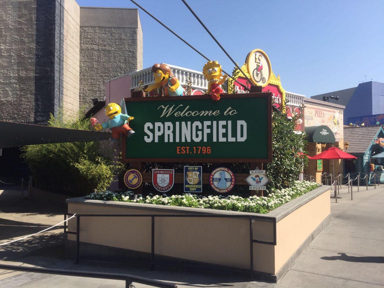 Entrada a la ciudad de Springfield Universal Studios Hollywood