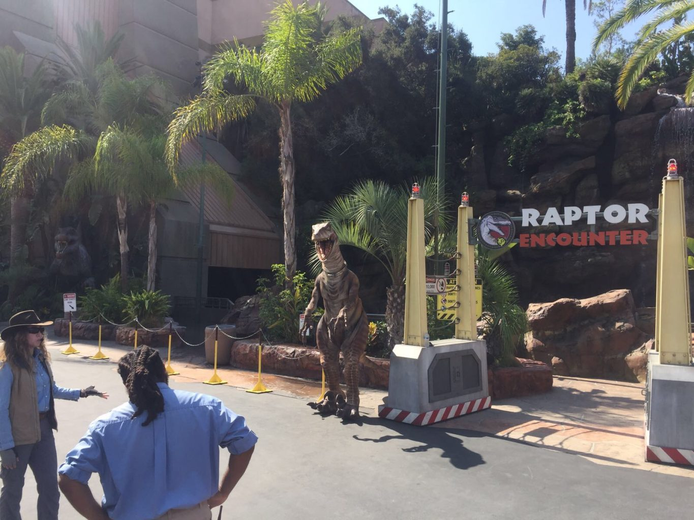 Raptor Encounter Universal Studios Hollywood