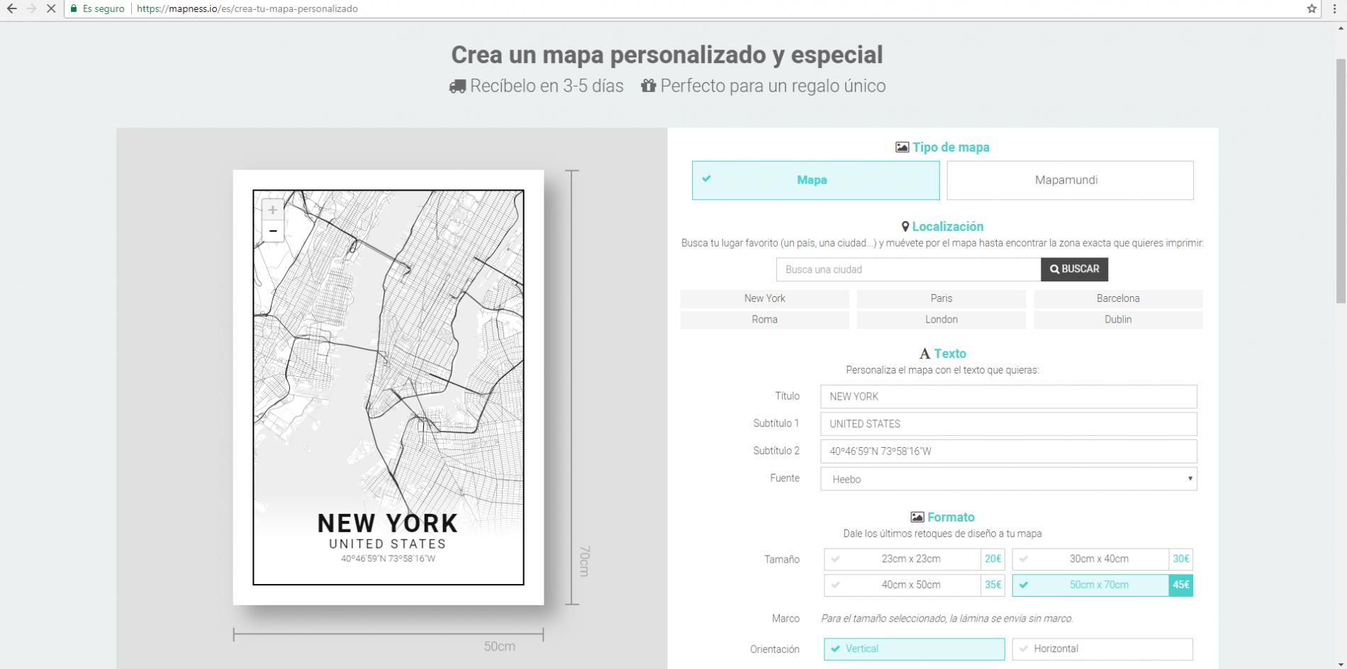 Editor de mapas. Mapness.io