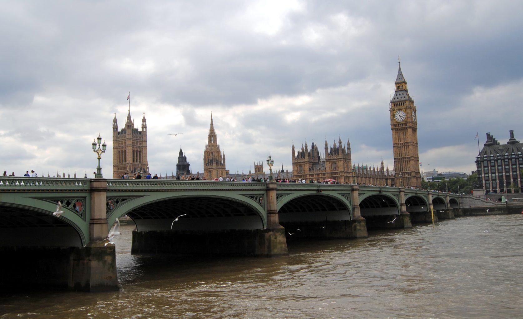 Casas del Parlamento en Westminster. Visitar Londres