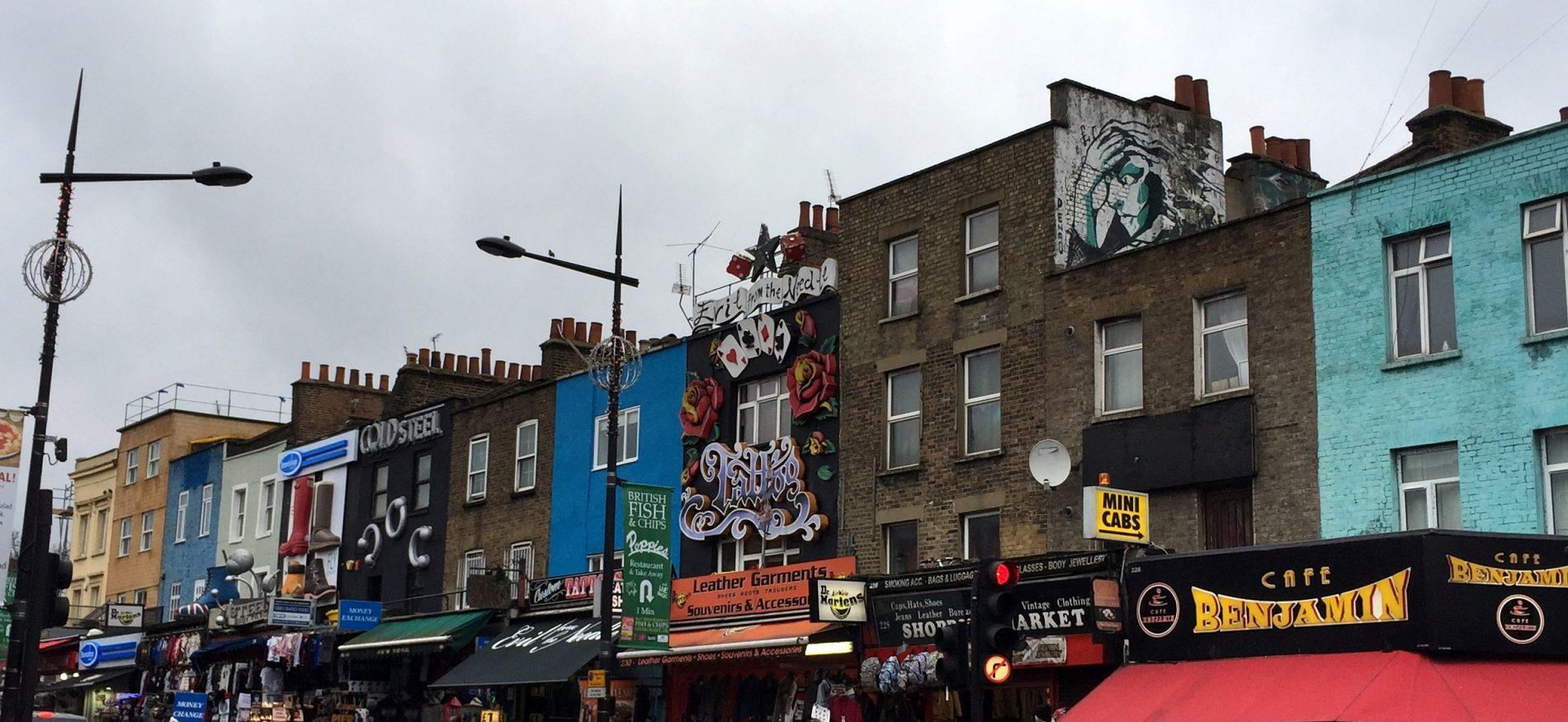Edificios en Camden. Visitar Londres