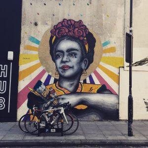Mural de Frida por Zabou. Londres