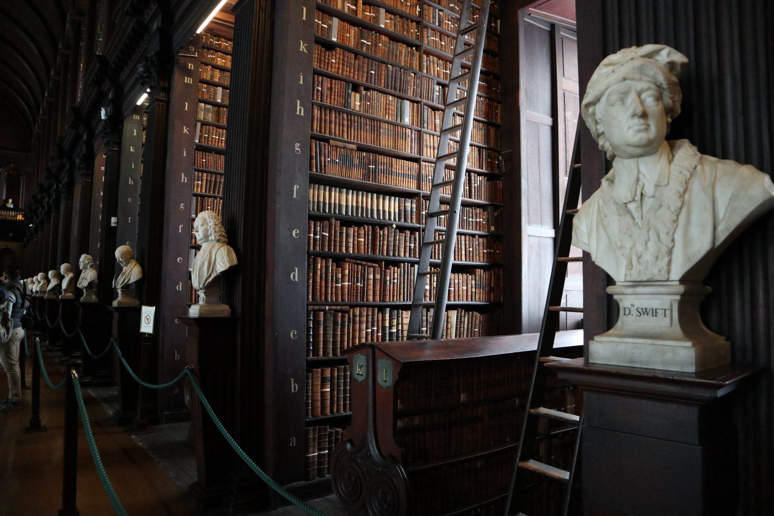 Bustos de la Biblioteca. Trinity College