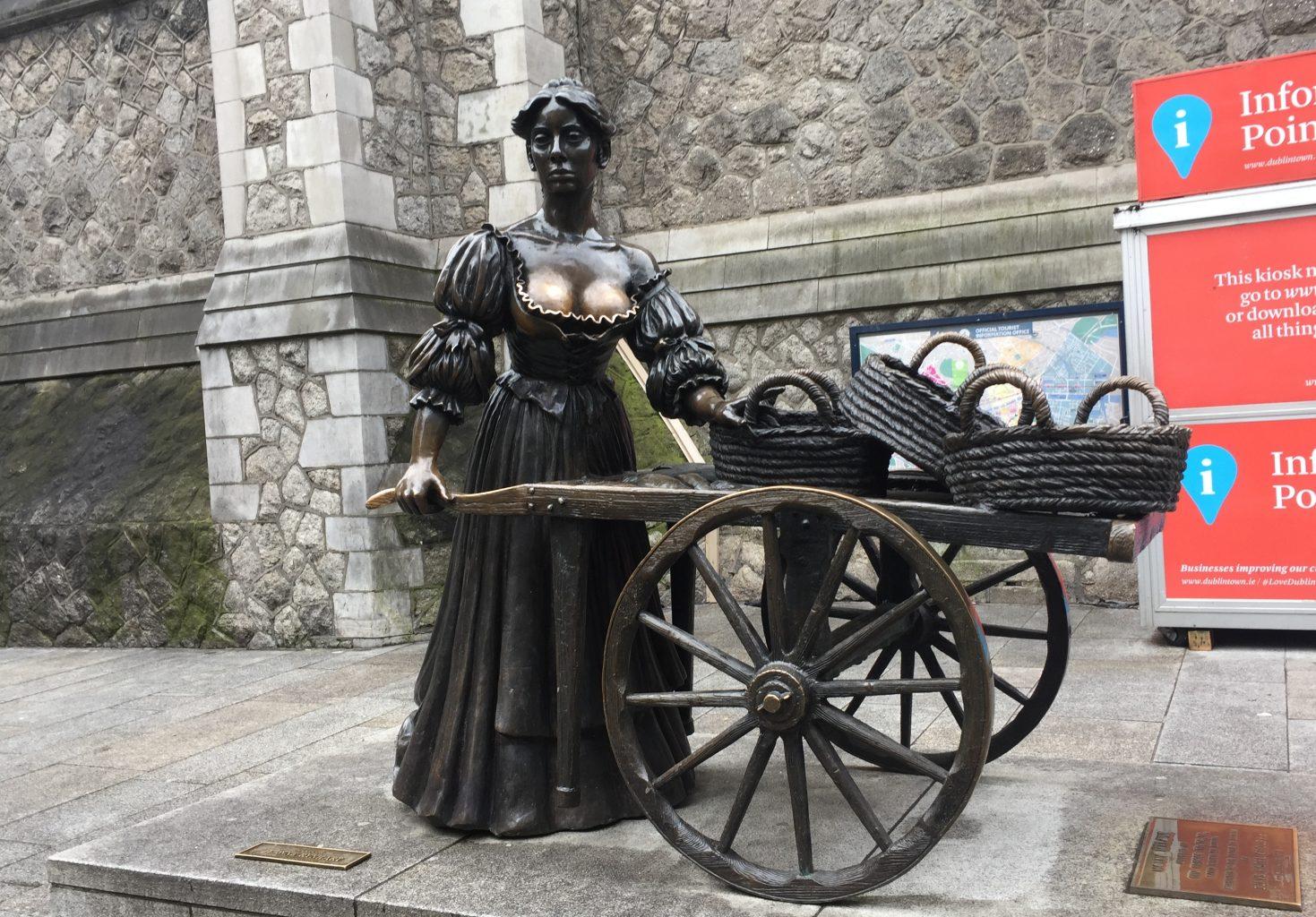 Estatua de Molly Malone. qué ver en dublín