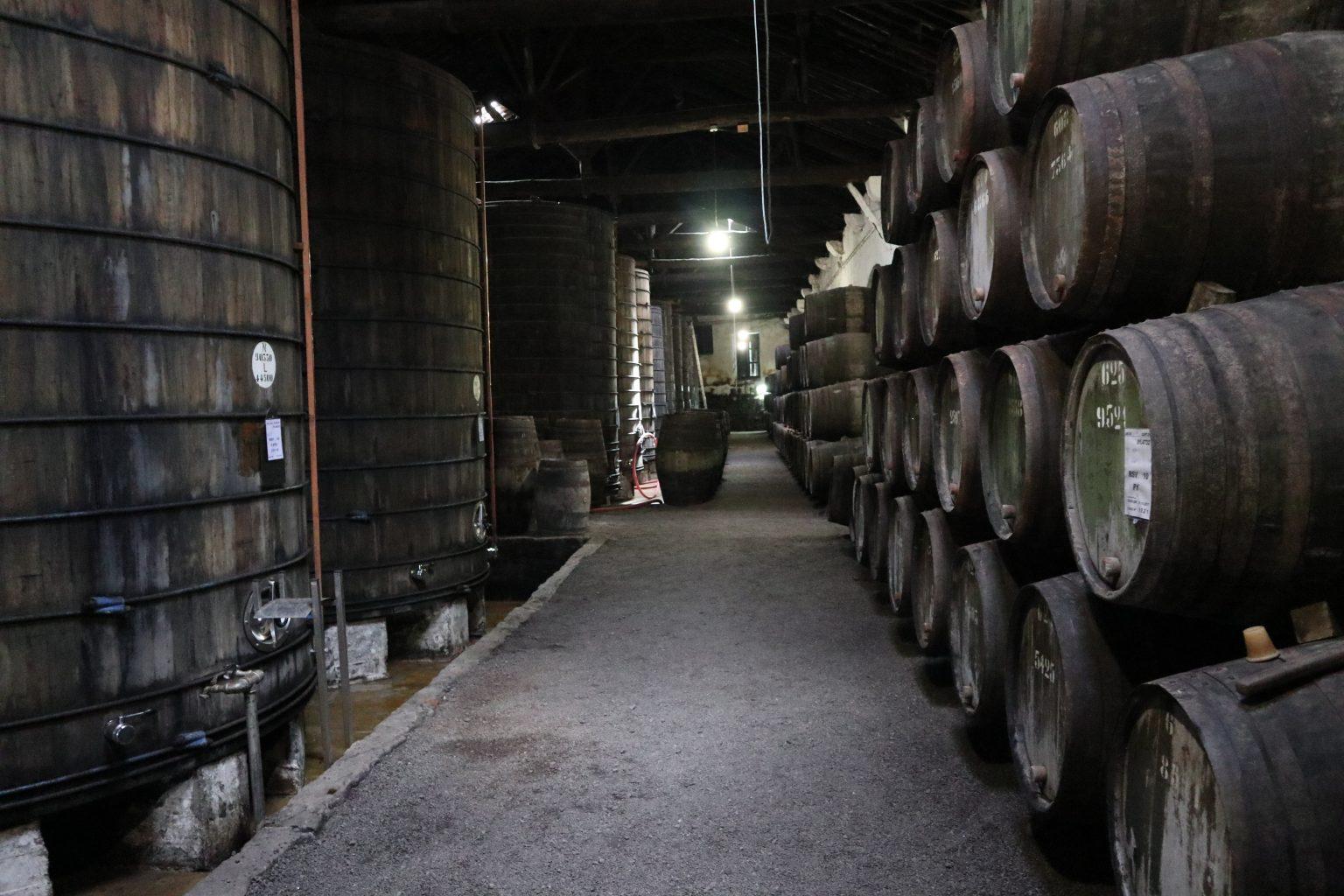 Interior de la bodega Croft. Tour vinos Oporto