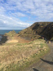 Blue trail hasta las rocas. Calzada del Gigante