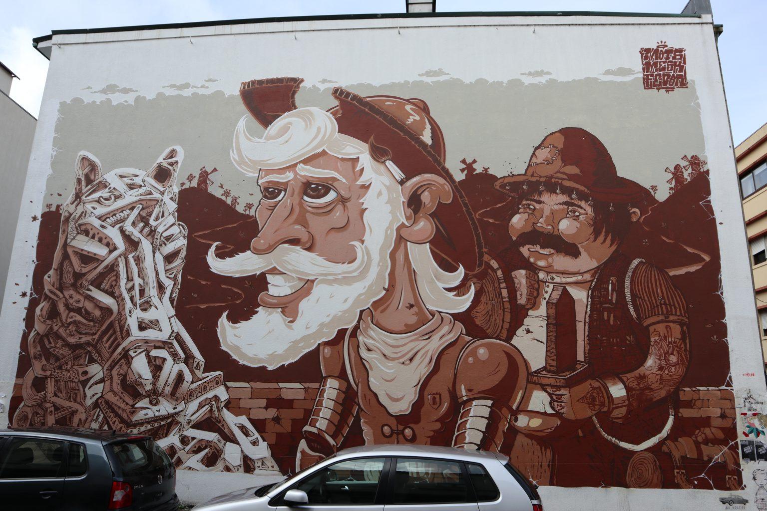 Don Quijote. Recorrido por el Streetart de oporto