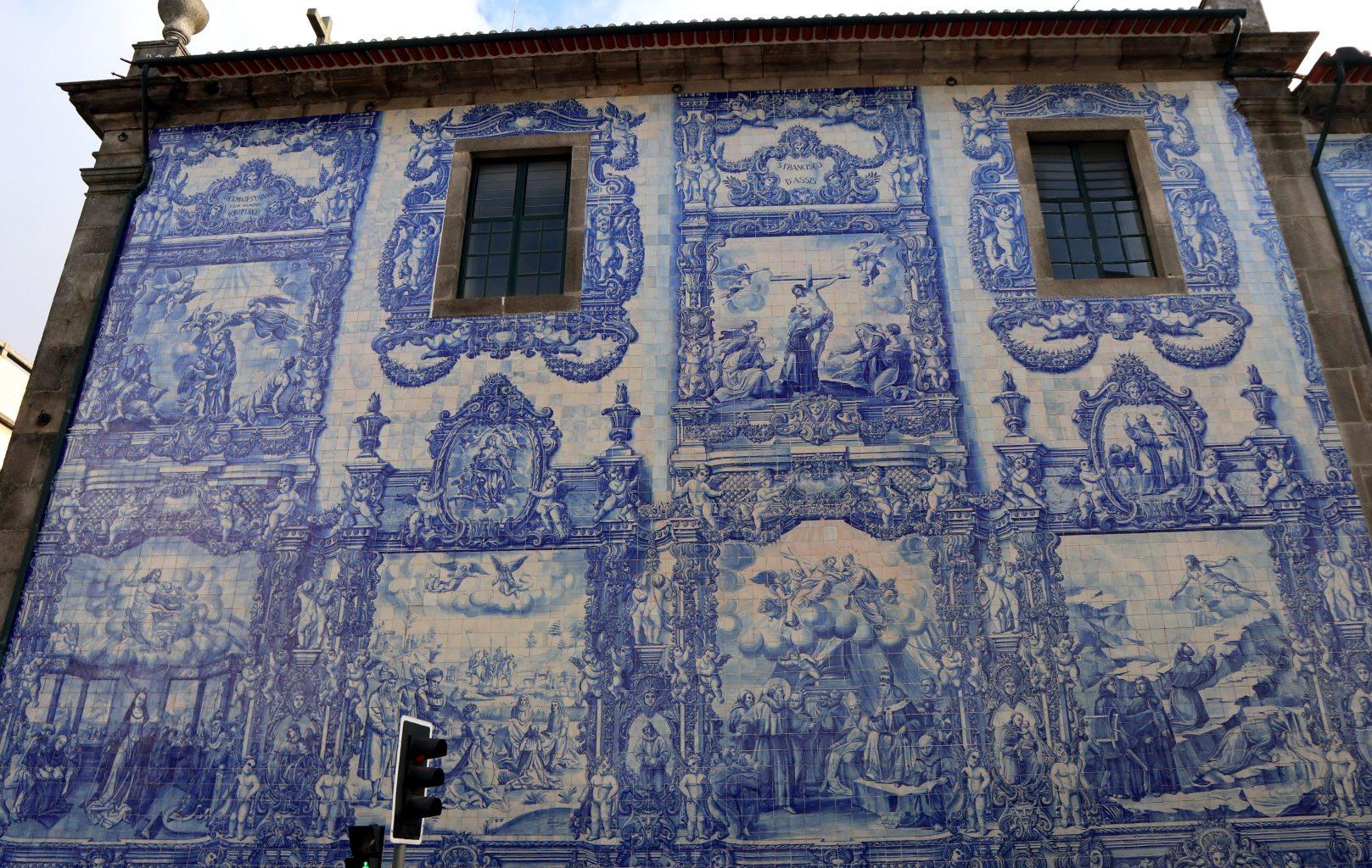Fachada de la Capela das Almas. Oporto