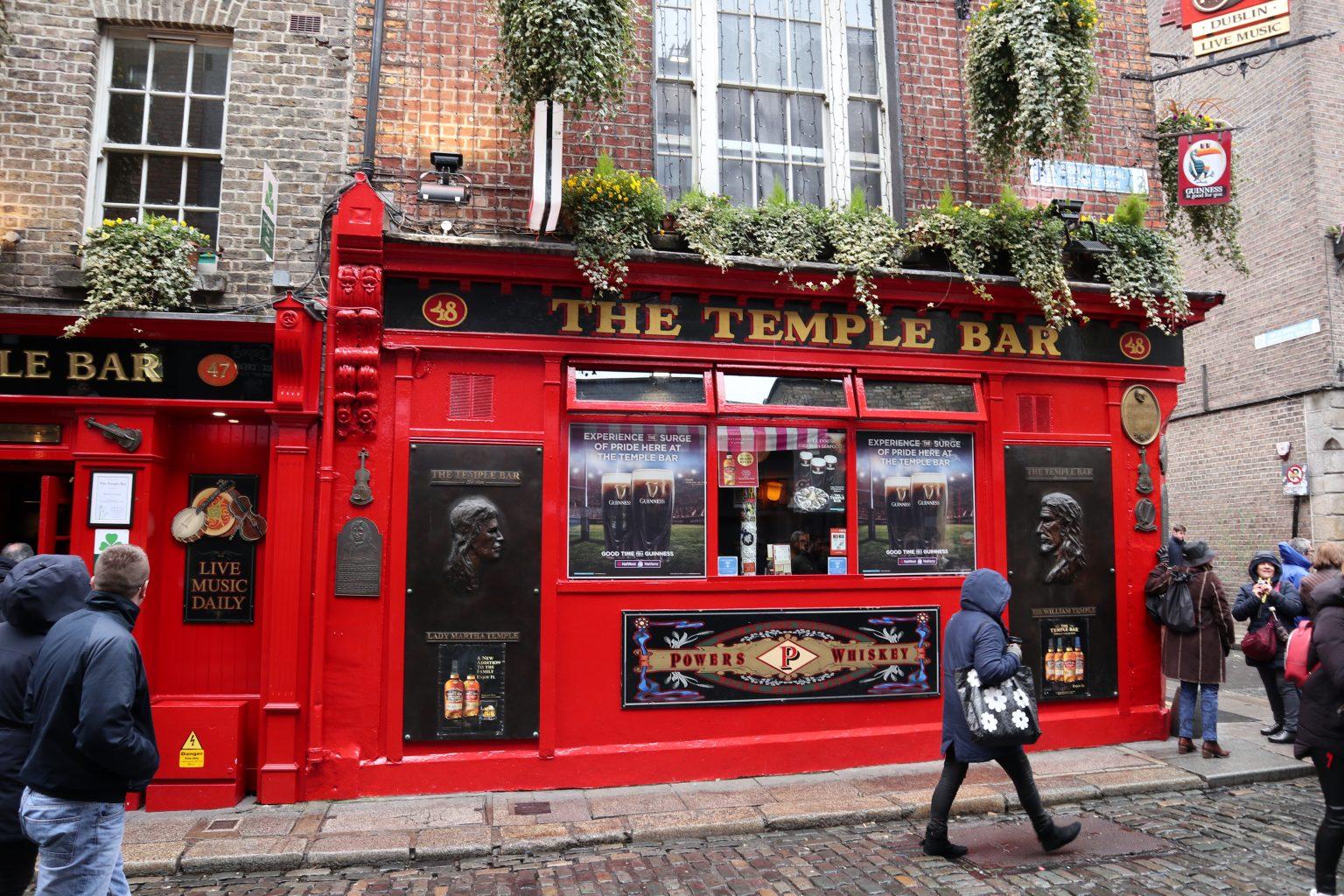 The Temple Bar. qué ver en Dublín