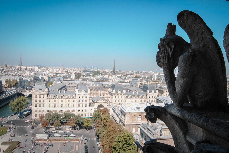 Gárgola de Notre Dame. qué ver en parís