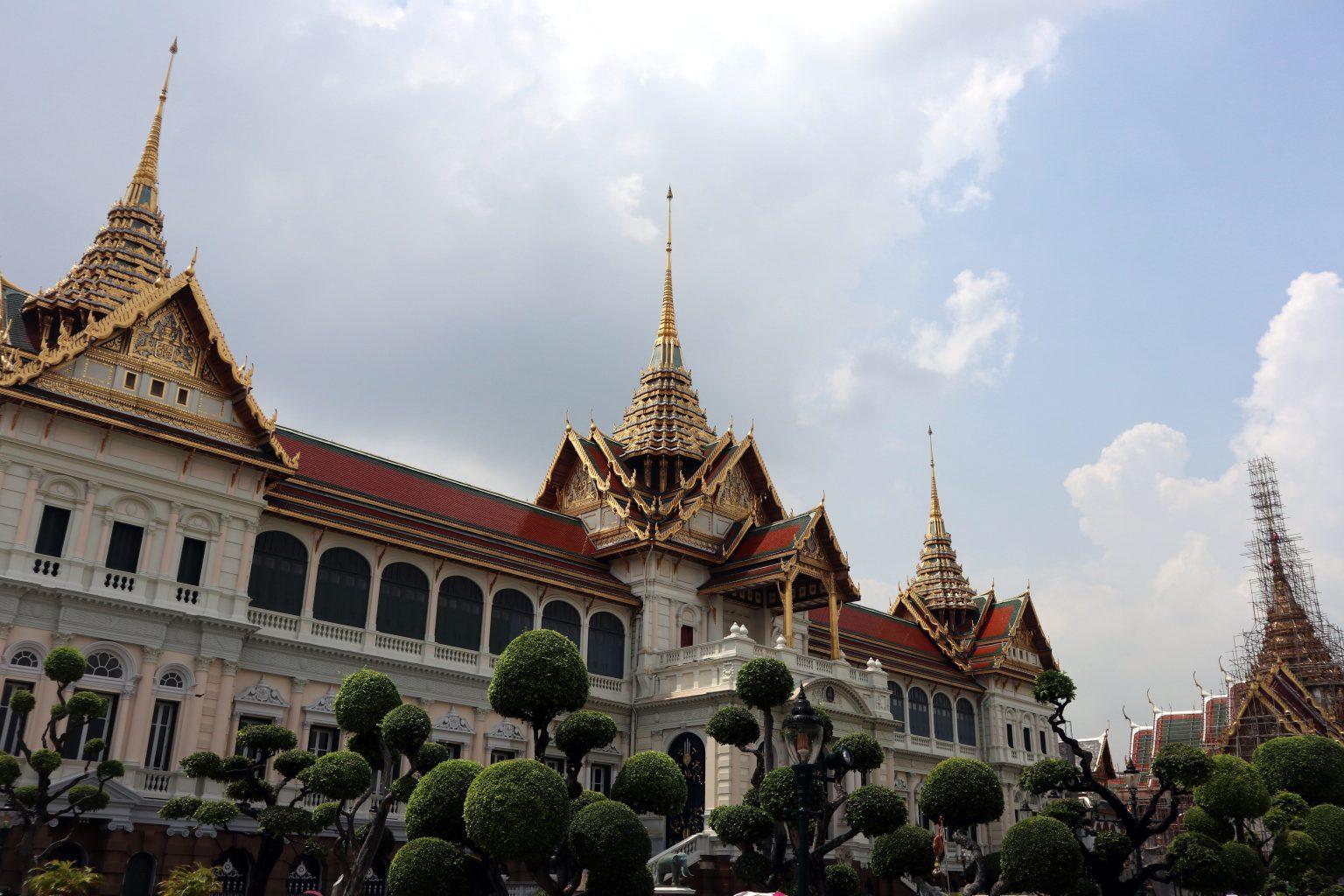 afueras del Palacio Real. templos de Bangkok