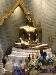 Buda de Oro Macizo. Templos de Bangkok
