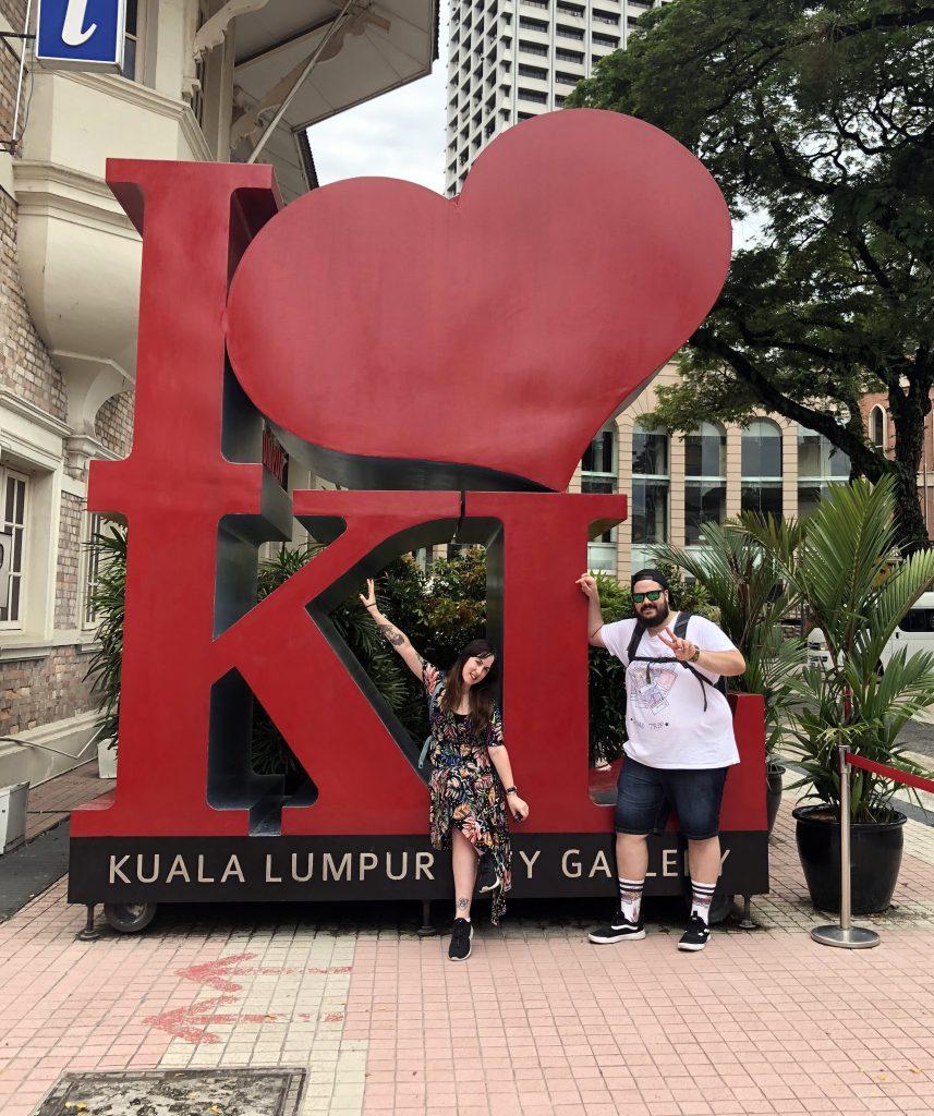 Letras I Love KL. qué ver en kuala lumpur