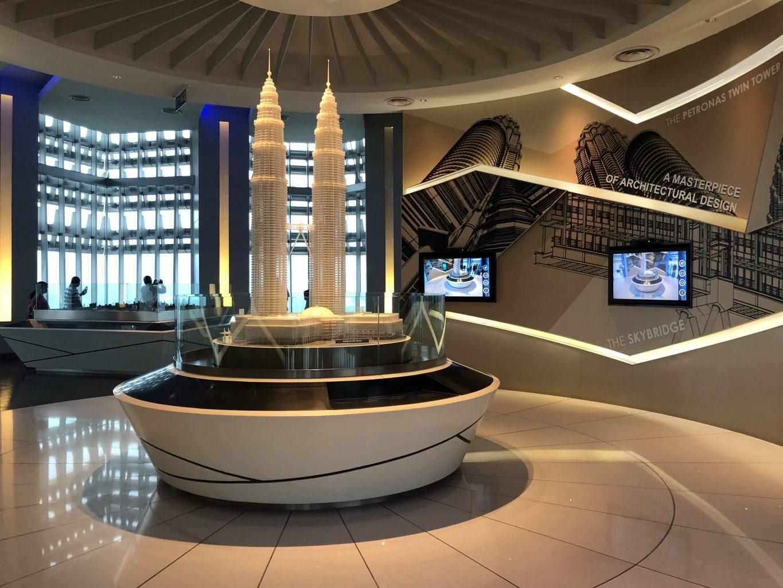 maqueta de las torres. Visitar las torres Petronas
