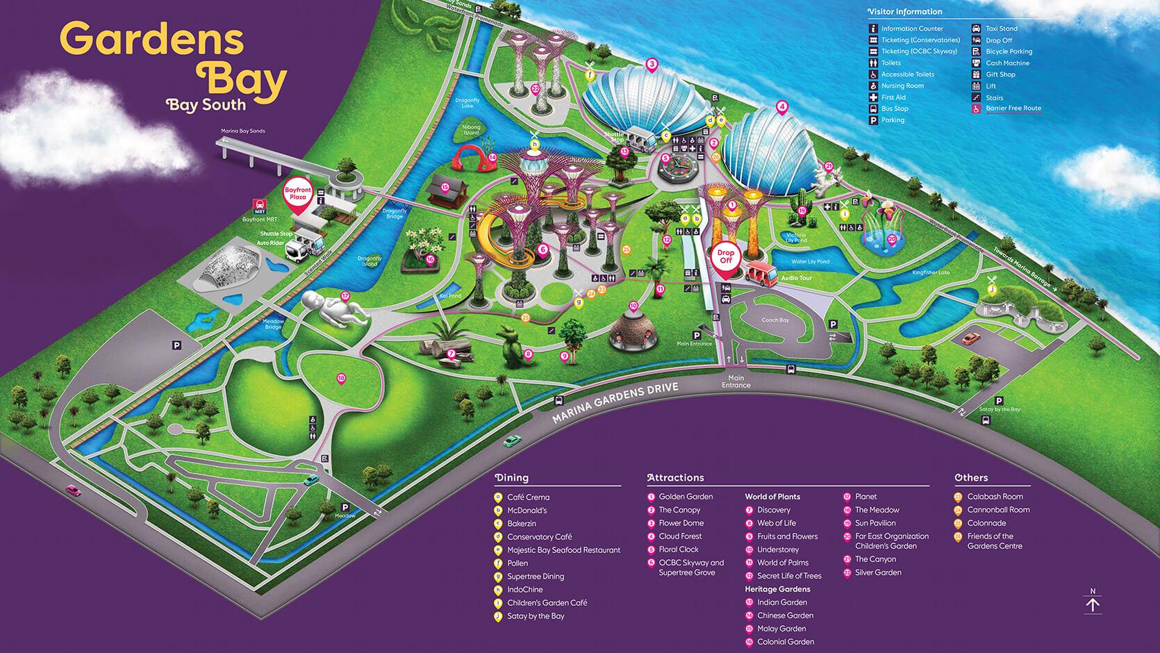 Mapa de los jardines/ Click para ampliar
