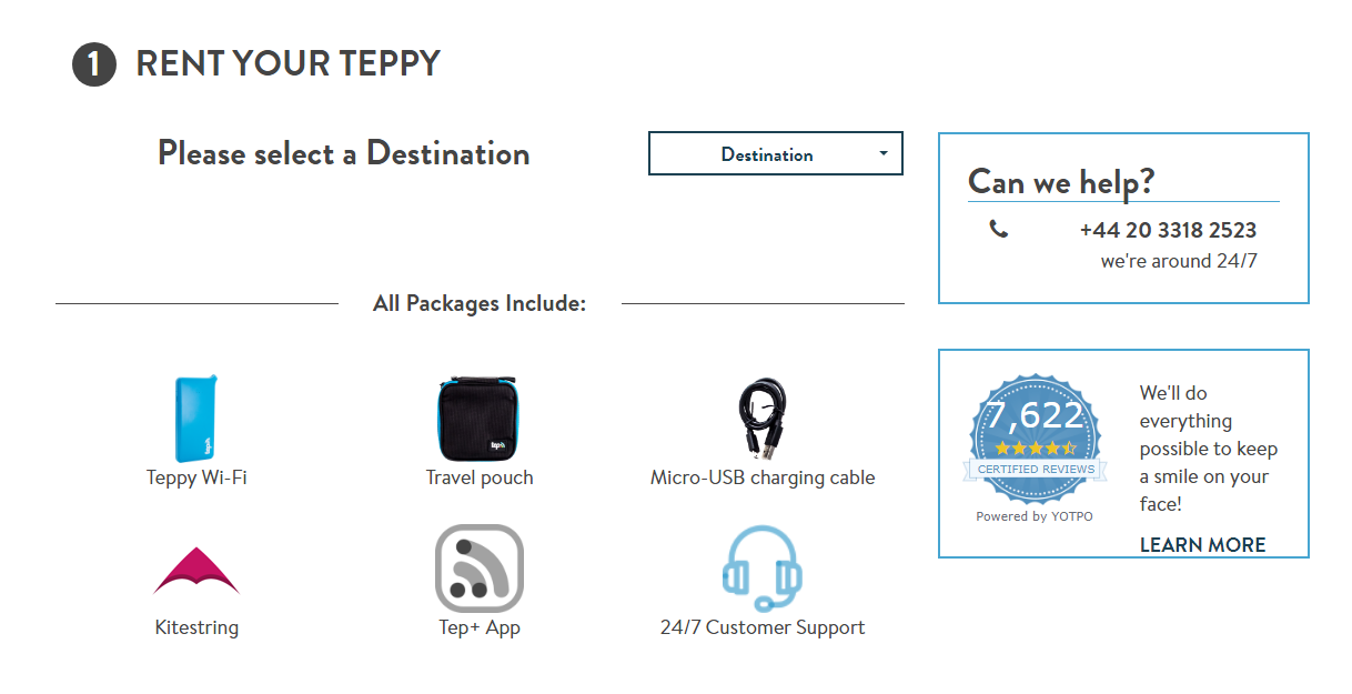 Proceso de pedido. Tep Wireless