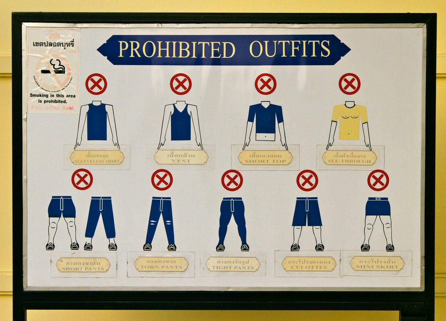 Normas de vestimenta en templos. Consejos para no cometer errores culturales en Tailandia