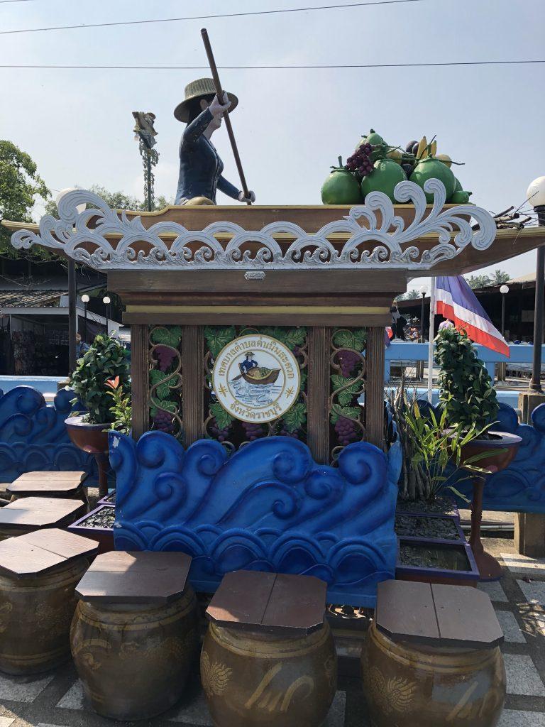 Mercado flotante. mercado del tren, el mercado flotante y ruinas de Ayutthaya