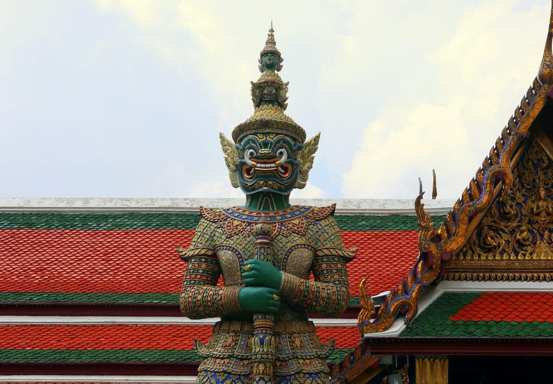Guardián del Palacio Real. Templos de Bangkok