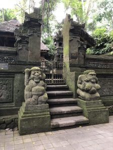 Uno de los templos. Ubud Monkey Forest