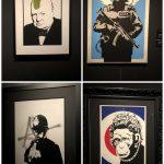 Algunas obras. Exposición sobre Banksy en Madrid: Genius or Vandal?