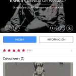 App con la audioguía gratuita. Exposición sobre Banksy en Madrid: Genius or Vandal?
