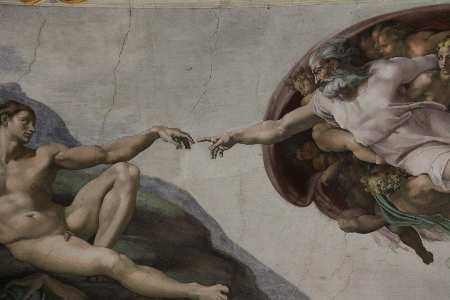 La creación de Adán. qué ver en Roma
