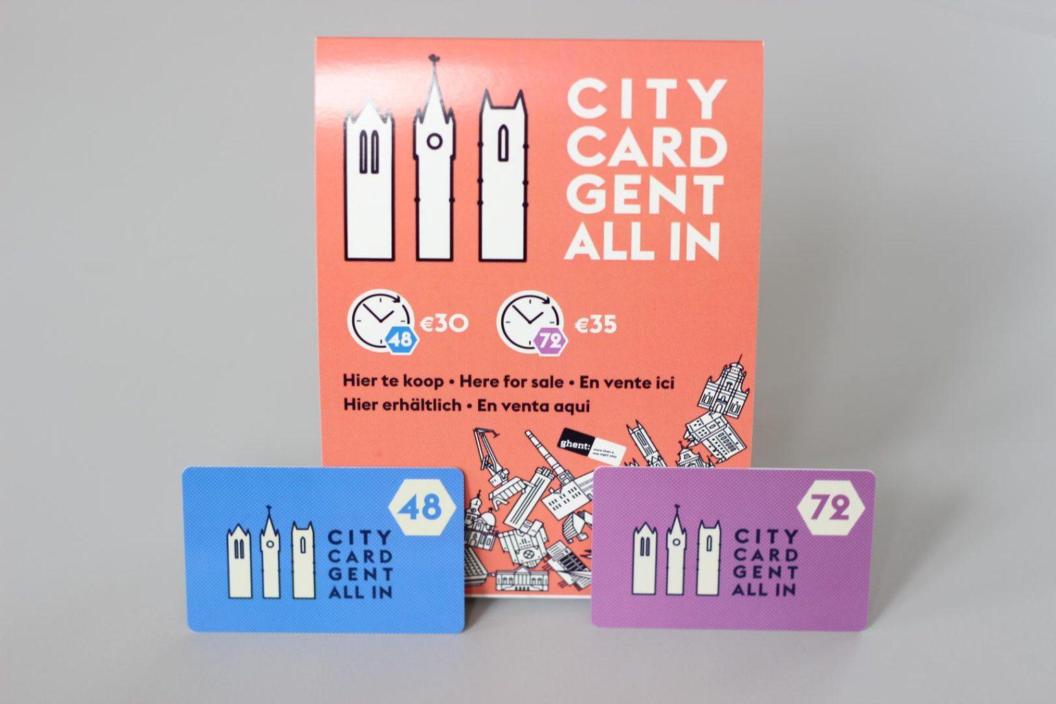 CityCards de 48 y 72 horas. CityCard Gent, la tarjeta turística para visitar Gante