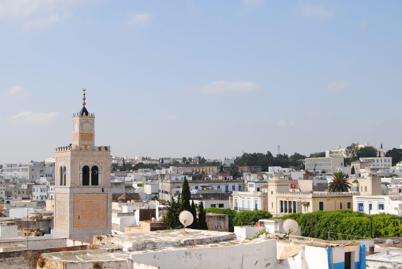 Vistas de Túnez desde una azotea. Qué saber antes de viajar a Túnez