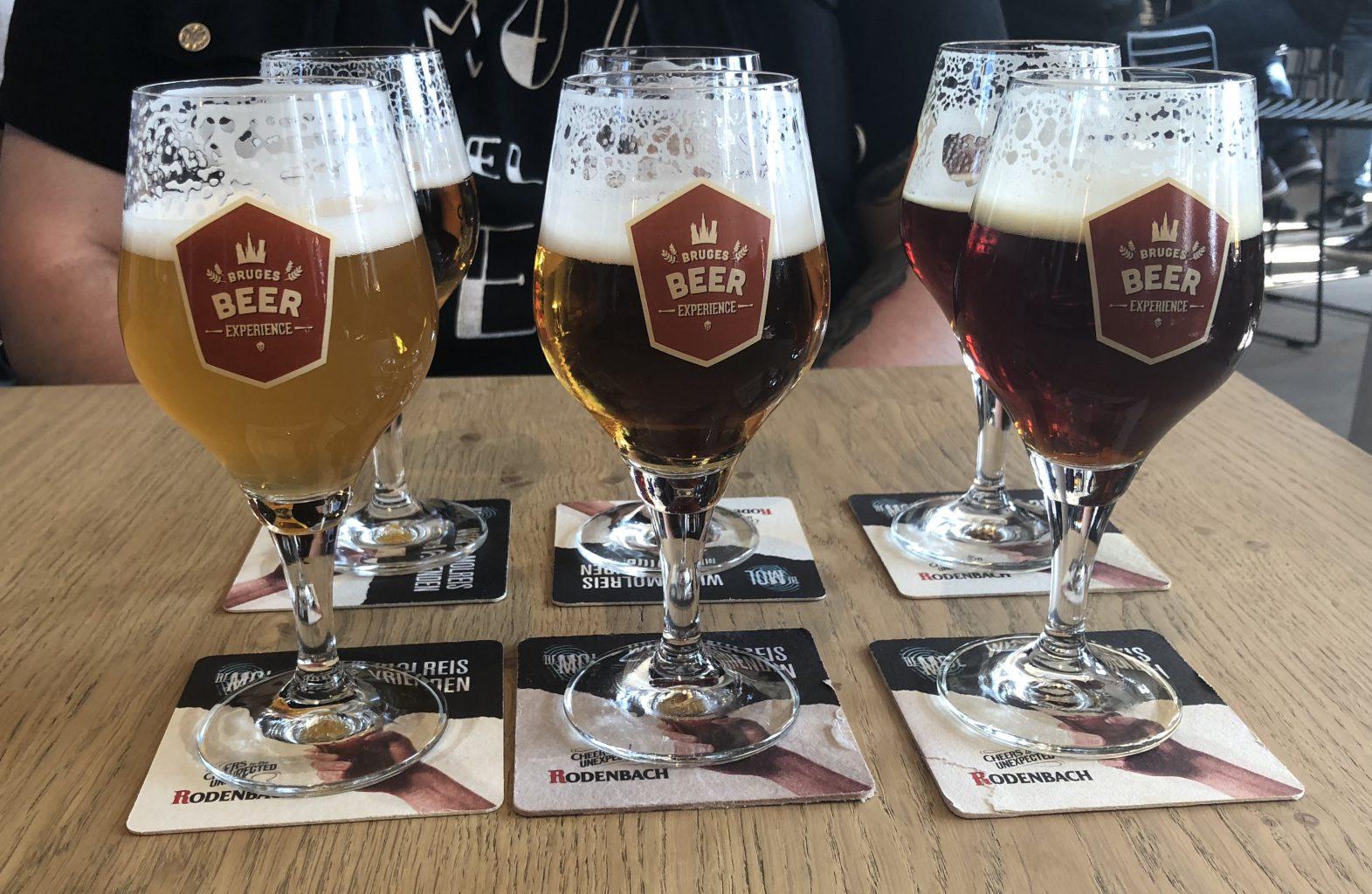 nuestra cata de cervezas. Bruges Beer Experience