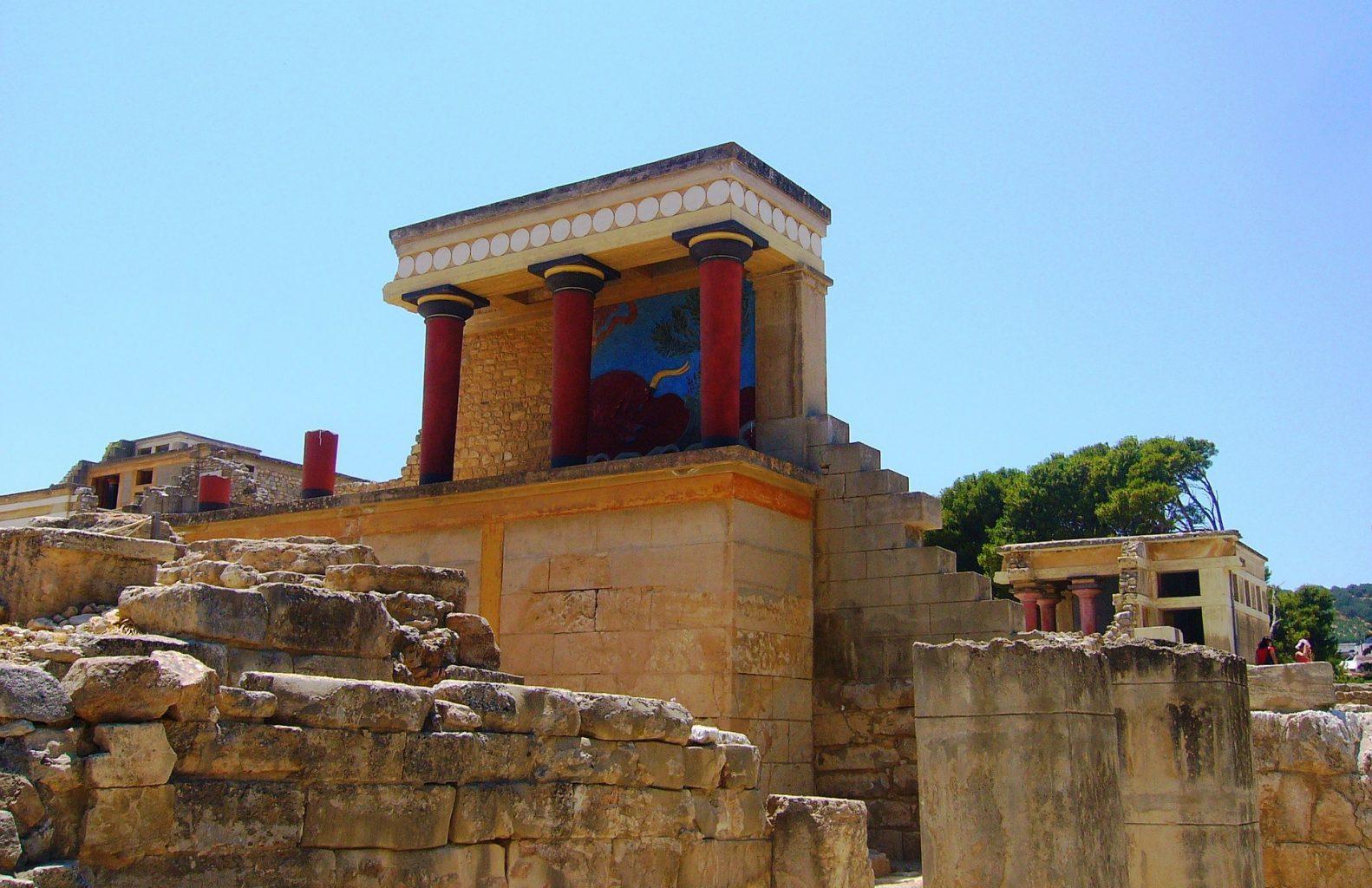 Propileo Norte. El palacio de Knossos