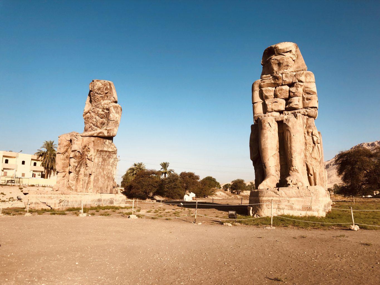 Colosos de Memnon. Itinerario de 7 días por Egipto
