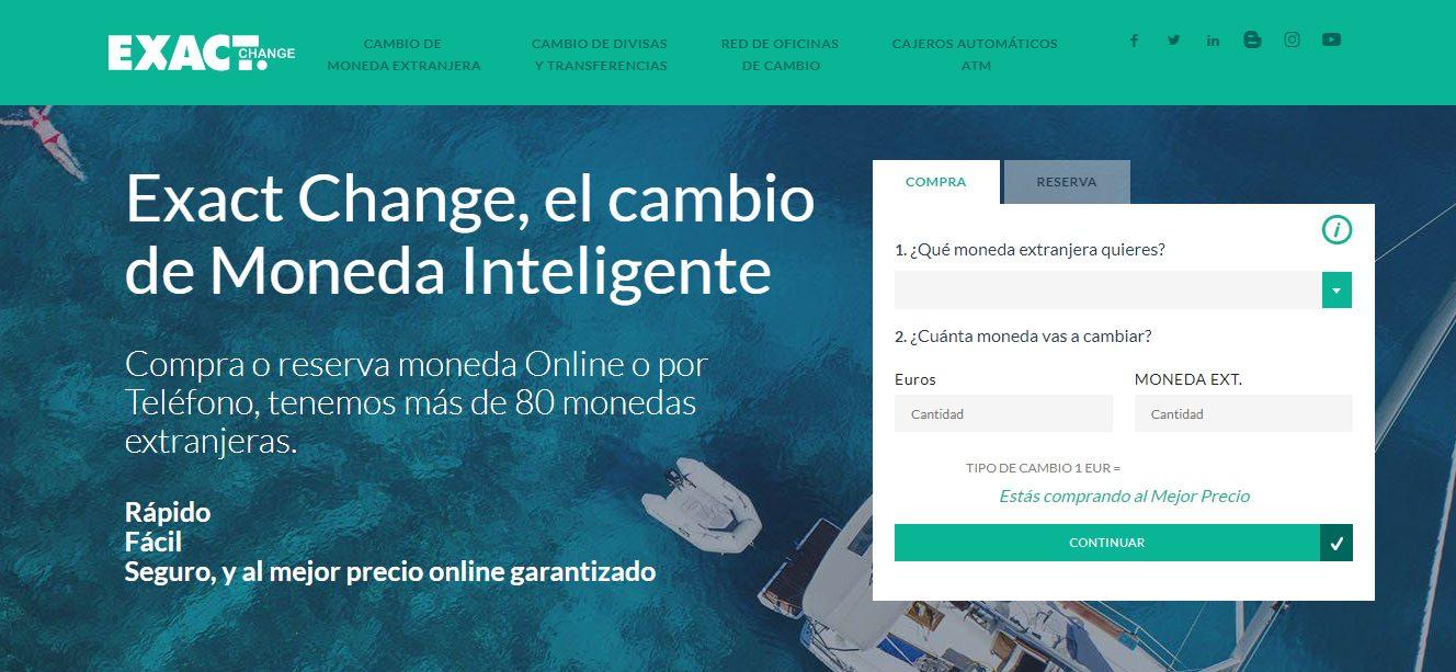 Portal de Inicio de Exact Change. Exact Change: la mejor forma de cambiar moneda
