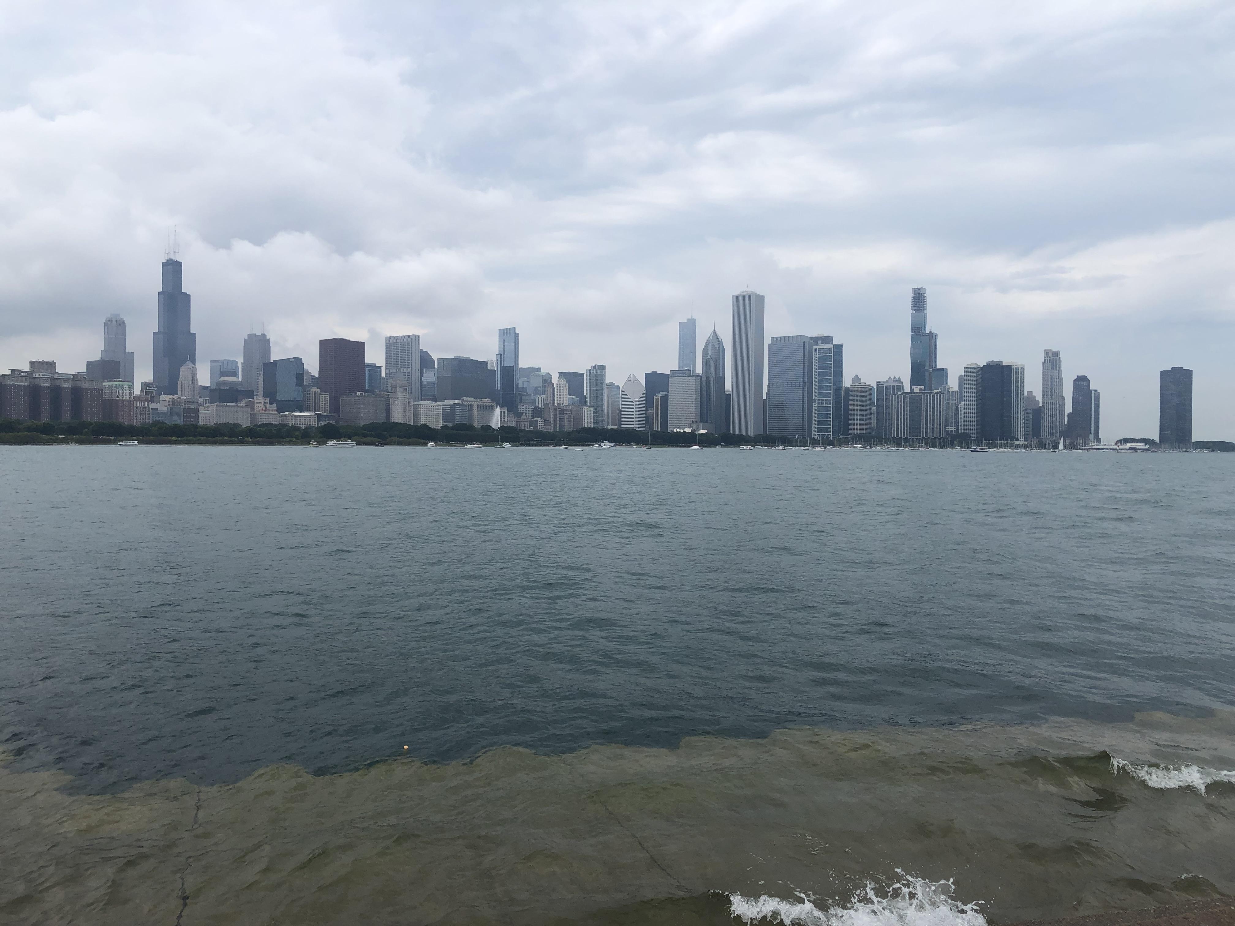 Vistas de Chicago desde el Adler Planetarium. qué ver y hacer en Chicago