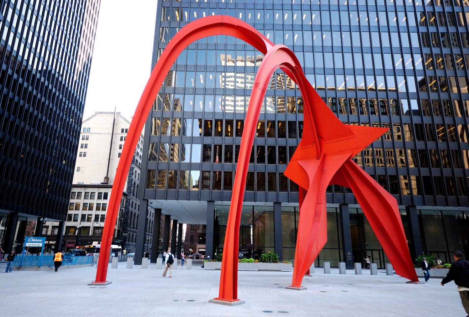 Calder's Flamingo. qué ver y hacer en Chicago