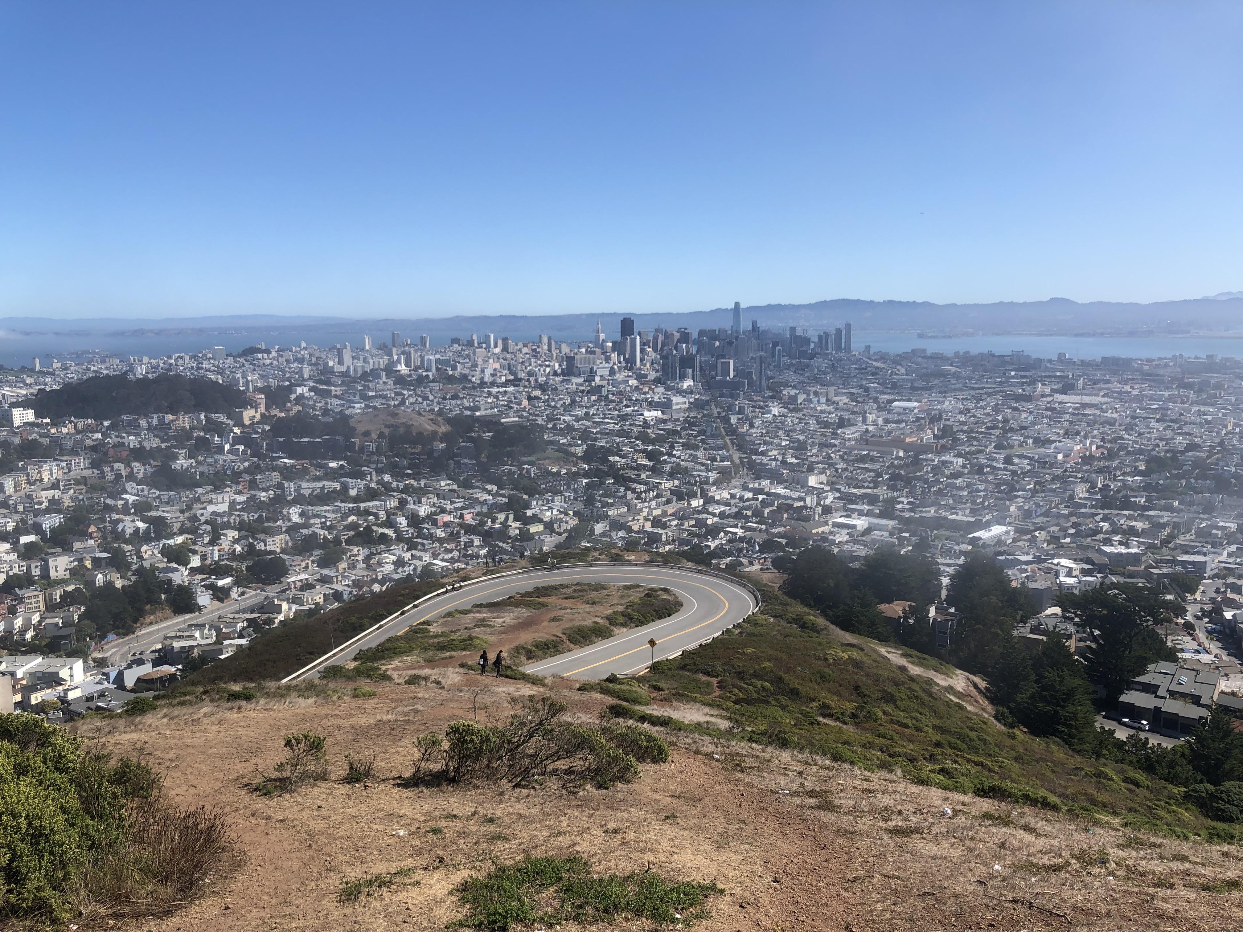 Vistas desde Twin Peaks. qué ver y hacer en San Francisco