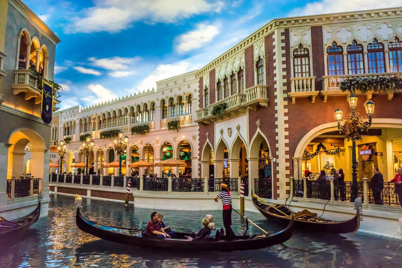 Interior del hotel Venetian. Consejos para elegir hotel en Las Vegas