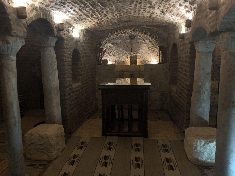 Cueva en la Iglesia San Sergio y San Baco. qué ver en El Cairo