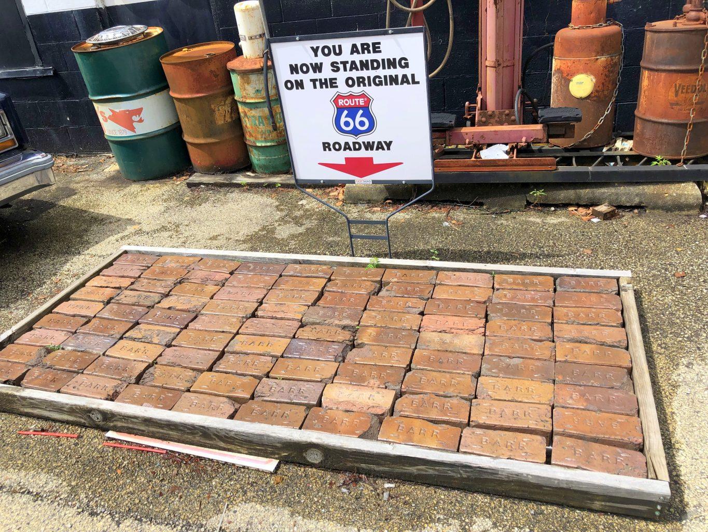 Pavimento original de la Ruta 66